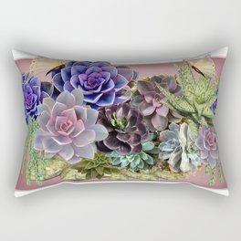 Succulent gardens Rectangular Pillow