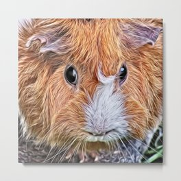 Painted Guinea Pig 5 Metal Print