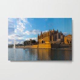 Dusk on Cathedral of Palma de Mallorca Metal Print