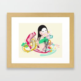 koi dance Framed Art Print