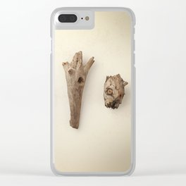 Wood pieces Clear iPhone Case