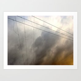 Wiry Sky Art Print