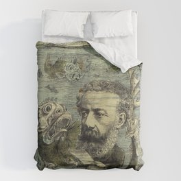 Vintage Jules Verne Periodical Cover Duvet Cover