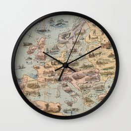 Vintage Map of Europe (1842) Wall Clock