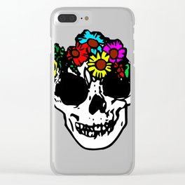 Flowerskull Clear iPhone Case