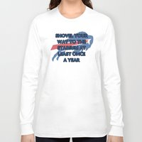 nfl Long Sleeve T-shirts featuring NFL - Bills Shovel Your Way by Katieb1013