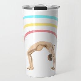 Make a Rainbow (Upward Bow / Wheel Yoga Pose) Travel Mug