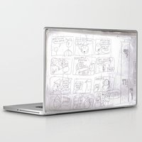 teacher Laptop & iPad Skins featuring Angry Teacher by Clinton Morgan Artworks