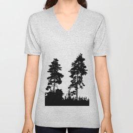 pine trees Unisex V-Neck