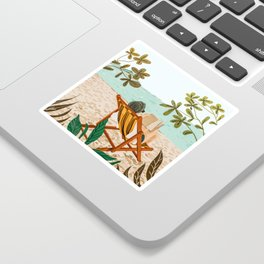 Vacay Book Club #illustration #tropical Sticker