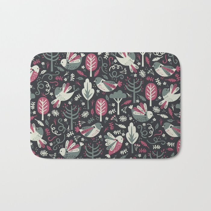 Woodland Birds Bath Mat