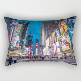 Time Square NYC Rectangular Pillow
