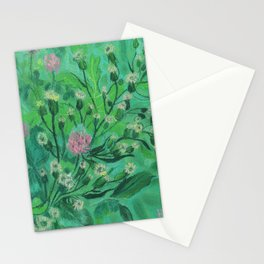 Flowers For Bumblebee, Summer Wildflowers Simple Floral Botanical Stationery Cards