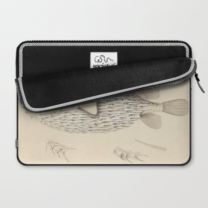 Naturalist Pufferfish Laptop Sleeve