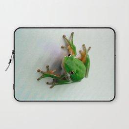 Green Tree Frog Laptop Sleeve