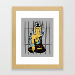 Incarcerated Buddha Framed Art Print