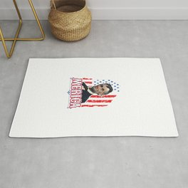 Independence Day Freedom United America USA Drinking Like Lincoln 4th Of July Gift Rug