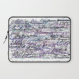 All The Presidents Signatures Blue Rose Laptop Sleeve