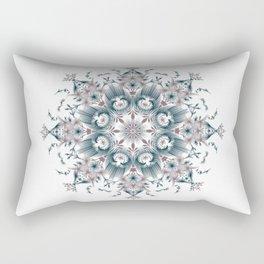 Kat Scratch • Digital Mandela • Dusty Purple & Blue Rectangular Pillow
