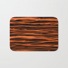 Harvest Orange Abstract Lines Bath Mat