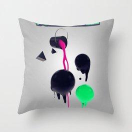 Plastik Vontastik - The Paint Throw Pillow