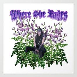 Kendra: Victorian Flower Series, Where She Rules Art Print