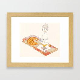 Pizza Pizza Pizza Framed Art Print