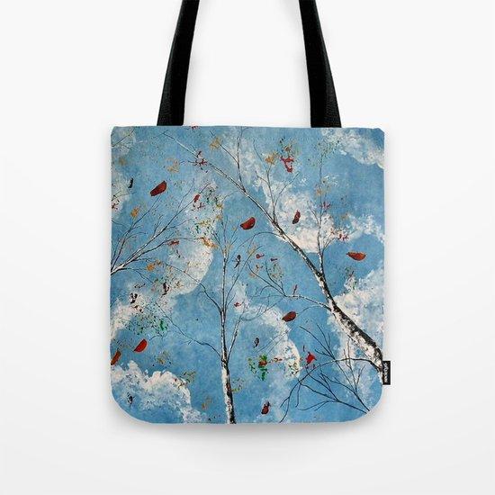 Blue Skyes Tote Bag