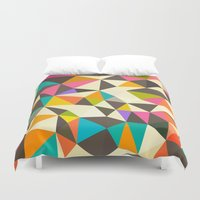 mod Duvet Covers featuring Mod Tris by Beth Thompson
