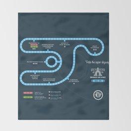 Tomorrowland Transit Authority Map Throw Blanket