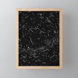 Constellation Map - Black Framed Mini Art Print