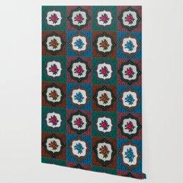 Peranakan Tiles (Textured Multi) Wallpaper
