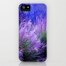 Purple long grass iPhone Case