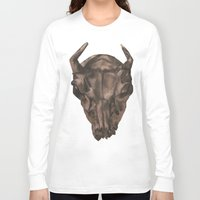 western Long Sleeve T-shirts featuring Western Skull by Purple Hayes