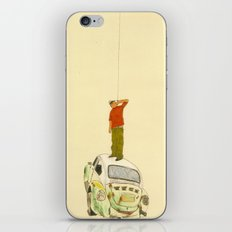 man listening something from the sky iPhone & iPod Skin