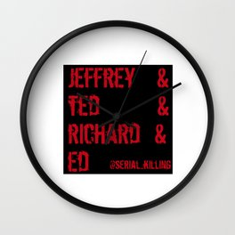 Famous Serial Killers Wall Clock