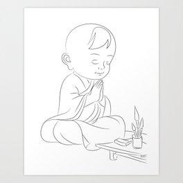 meditation has no age Art Print