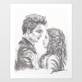 Twilight - Edward & Bella Art Print