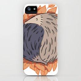 Hedgehog Yin Yang iPhone Case