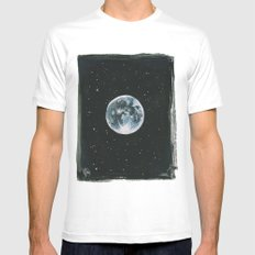 Moon MEDIUM Mens Fitted Tee White
