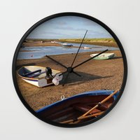 rowing Wall Clocks featuring Rowing Boats by Jude NH