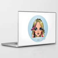 shameless Laptop & iPad Skins featuring Britney Cartoon: Shameless by Eduardo Sanches Morelli