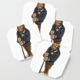 Funny bigfoot shirt - billiards and snooker lover Coaster
