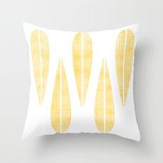 Make Mine MCM Orange Feather Throw Pillow