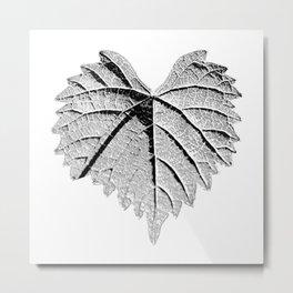 backlight leaf drawing Metal Print