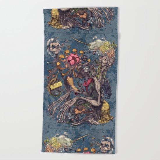 Transmigration color Beach Towel