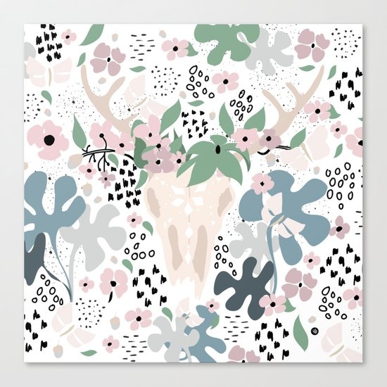 Deer paradise Canvas Print