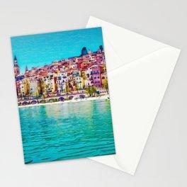 French Riviera, Cote d'Azur, France Coastline Landscape by Jeanpaul Ferro Stationery Cards