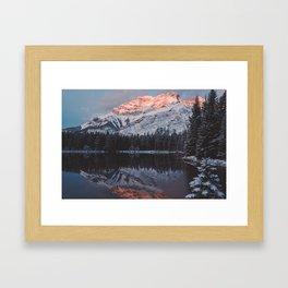 Mount Cascade Framed Art Print