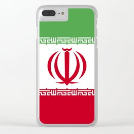 Iran flag emblem Clear iPhone Case